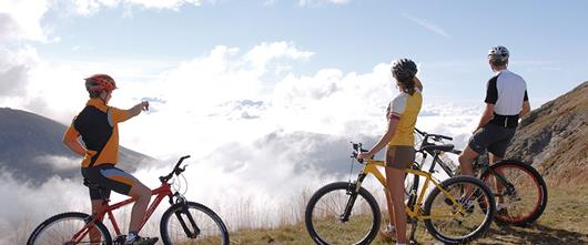 Hotel Santer guided mountain bike tour